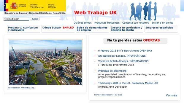 La embajada de espa a en londres publica un nuevo portal - Ofertas de empleo londres ...