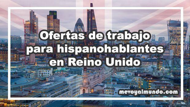 Ofertas de trabajo para españoles en Reino Unido