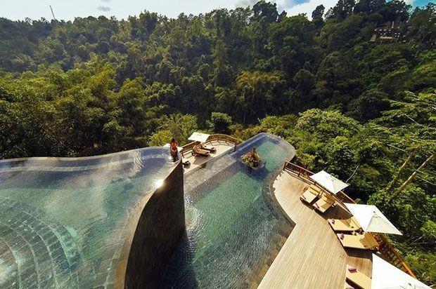 viaje a bali, piscina hotel de ubud