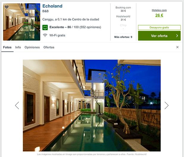 alojamiento barato en Bali