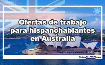 Ofertas de trabajo para hispanohablantes en Australia