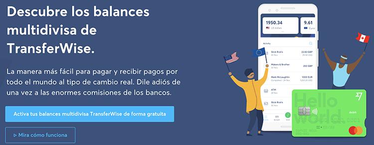 Tarjeta Transferwise Reino Unido